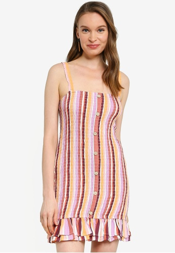 Mink Pink multi Ilios Shirred Mini Dress 46048AA6CDB954GS_1