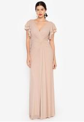 Tantease beige Oliva Long Dress 571DCAA61B619BGS_1
