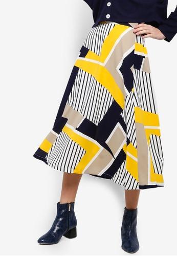Something Borrowed yellow Swing Circle Skirt B4495AA26840F4GS_1