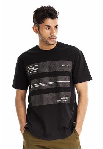 RYZ black RYZ Washed Out Block Black Short Sleeve T-shirt. 0B716AA9B40D87GS_1