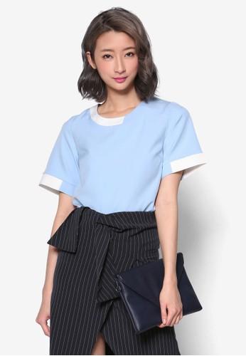 色塊短袖上衣,esprit香港分店地址 服飾, 清新俏皮