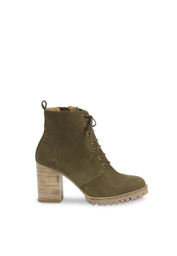 Andre green ADROVER Laced-up Leather Ankle Boots AN324SH0FVF1SG_1