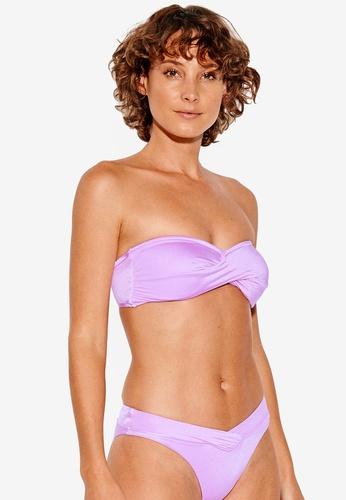 4342e4be51 Seafolly purple Shine On Twist Bandeau Bikini Top B4403US96A5B88GS 1