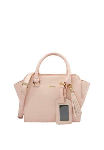 SEMBONIA pink SEMBONIA Synthetic Leather Tote Bag SE598AC30FMJMY_1