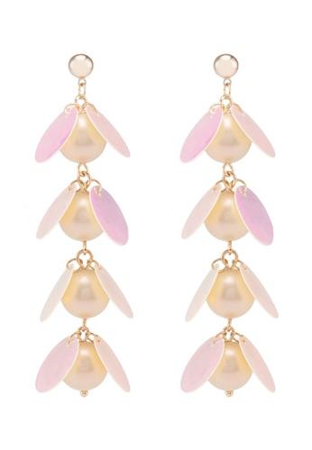 Dandelion orange Pearl Holographic Statement Earrings F862AACF56D5BCGS_1