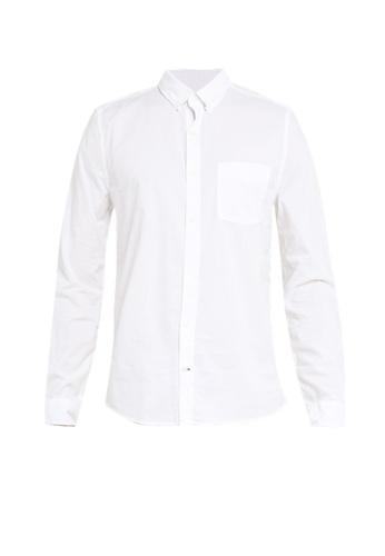 GAP white Slim Poplin Basics Shirt 033DEAA089C657GS_1