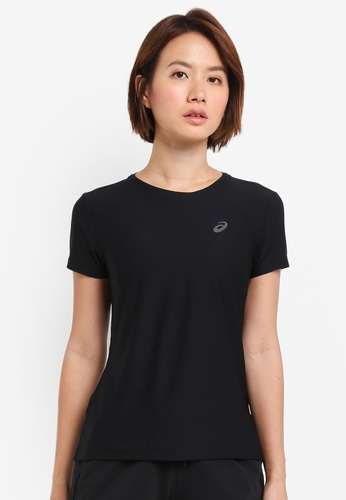 Asics black Running Short Sleeve Top AS989AA0SVQGMY_1