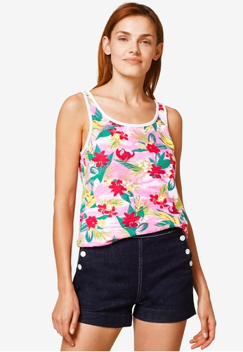 ESPRIT pink and multi Floral Tank Top 3E5B1AA11F11F1GS_1