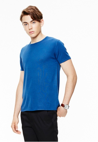 Life8 Formal basic u-neck plain sweatshirts-11119-Blue LI283AA0GMAASG_1