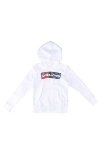 Jack & Jones white Logo Hoodie 05F00KA9F063DAGS_1