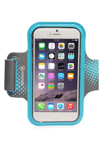 Monocozzi grey and blue Motion Sports Armband With Cable Management For iPhone 6 Plus MO983AC82BWJHK_1
