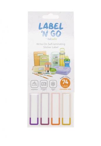 Totsafe multi Totsafe Label N Go Self Laminating Label Stickers - Plain 74s 5B816HL466D196GS_1