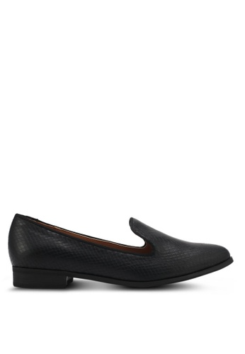 ZALORA black Textured Loafers 14D90SH6FEAA04GS_1