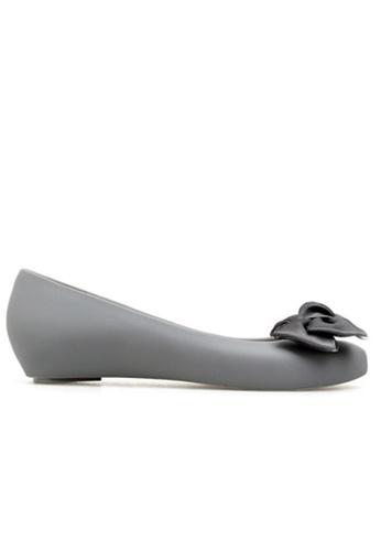 Halo grey Bow Waterproof Jelly Flats Shoes 2133ESHCADA708GS_1