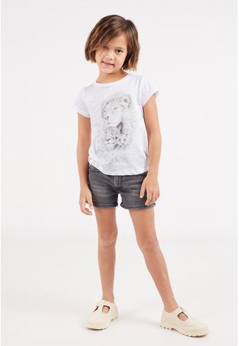 Gen Woo white Watercolour Lion Family T-shirt by Gen Woo 33668KA41FF842GS_1