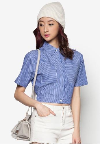 短版繫帶襯衫, esprit童裝門市服飾, 服飾