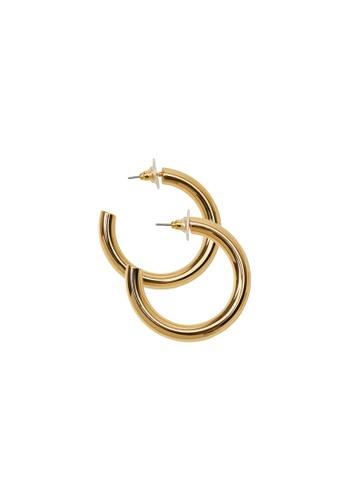 Mango gold Hoop Earrings CF242ACBE1E4C4GS_1
