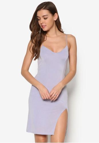 細肩帶前開叉連身裙, 服飾,esprit分店 洋裝