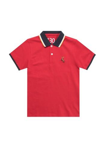 Giordano red Deer Junior Polo Shirt 37359KAD7FA24FGS_1