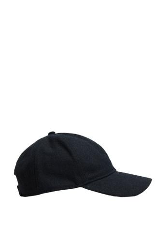 MANGO Man blue Wool-Blend Baseball Cap AA524AC4E27A8AGS_1