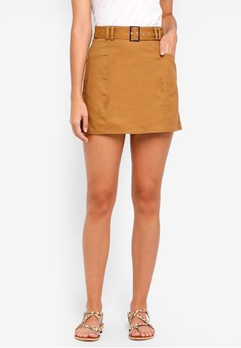 ZALORA brown Utility Skirt 3863AAADEAACDCGS_1