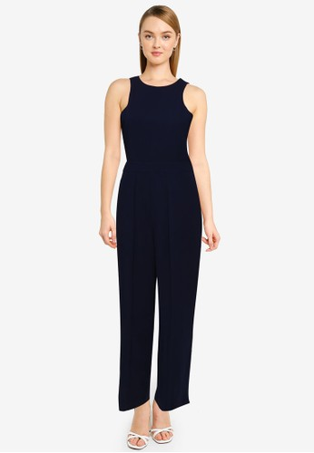 FORCAST navy Rio Roundneck Panelled Jumpsuit 56153AAD84C7DCGS_1