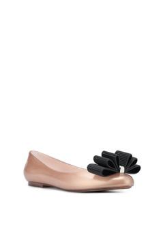 Fashion Ballerinas Slipper Flats Slip on Damen Schuhe Pumps 3762 Beige 38