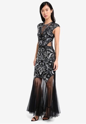 Miss Selfridge black Olivia Maxi Dress MI665AA0SS6CMY_1