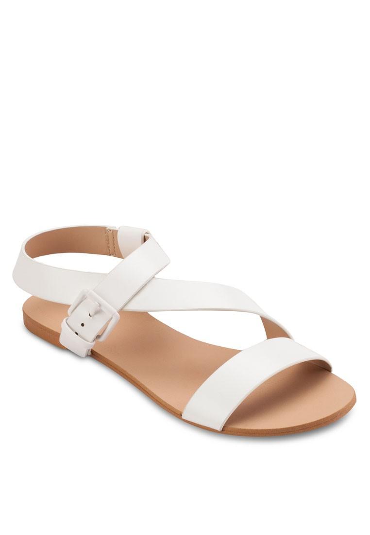 Basic Asymmetric Flat Sandals
