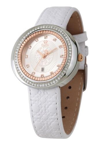 CLETA white and silver Cub Eye Watch CL733AC99FTGPH_1