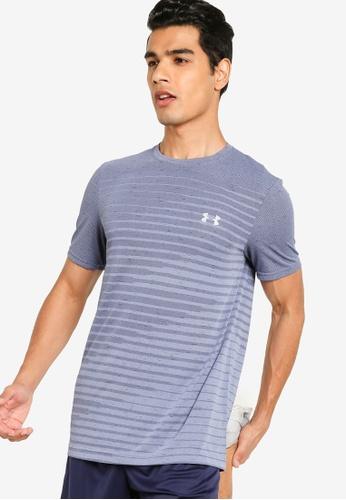 Under Armour 藍色 UA Seamless Fade Short Sleeve Tee 20FDCAAA1BCC54GS_1