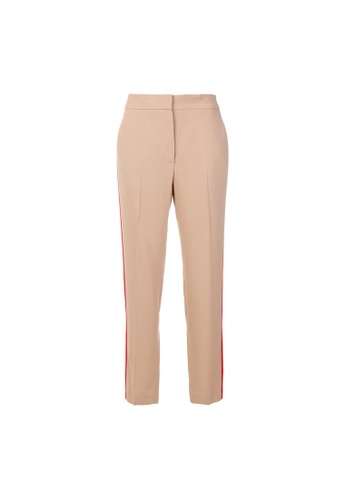 Msgm beige Msgm Striped Side Loose-Fit Pants in Beige 3AB57AA927138BGS_1