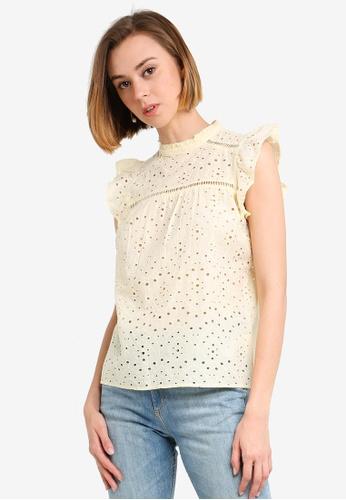 99812cd1 Buy Dorothy Perkins Lemon Broderie Top Online on ZALORA Singapore