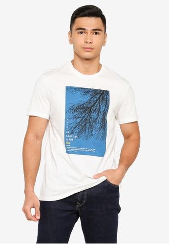 OVS white Sky T-Shirt 4CB78AA029A432GS_1