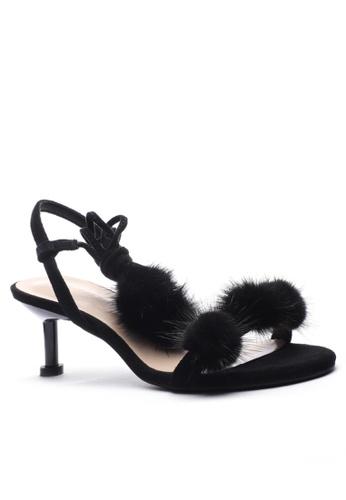 Twenty Eight Shoes Fur Ball Heels Sandals 365-50 74E77SH28D8B28GS_1