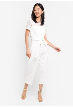 eb4ef3a55d2 Dorothy Perkins Lace Top Tie Front Jumpsuit S  109.00. Available in several  sizes