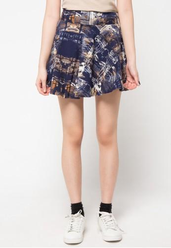 Envy Look navy Sensible Pattern Skirt EN694AA07CPGID_1