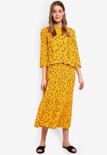 Modstrom yellow Jaya Print Dress 820A9AAFFF8C63GS_1