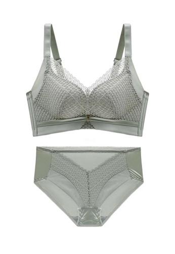 ZITIQUE green Women's Seamless Push Up Lingerie Set (Bra And Underwear) - Green 229DBUS9700CF2GS_1
