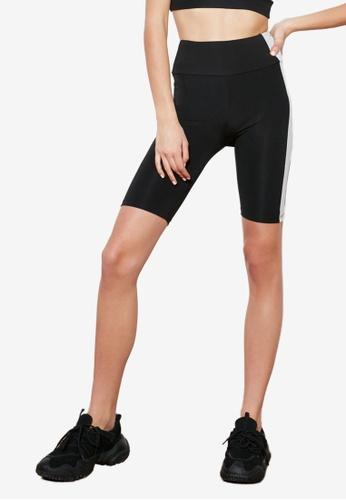 Trendyol black Side Stripes Biker Shorts 17903AA9BD941AGS_1