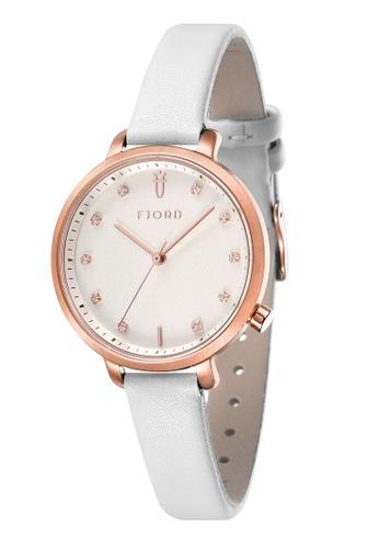 Fjord white Fjord Women's Genuine Leather Watch - FJ-6044-06 55EC2AC27EC345GS_1