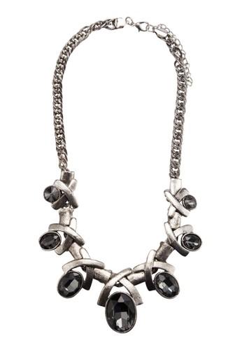 Antesprit hk分店ique Cross Gem Necklace, 飾品配件, 項鍊