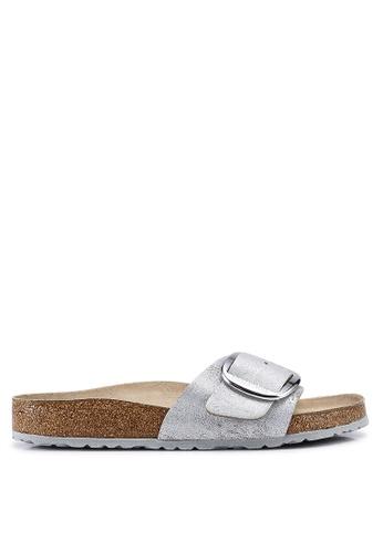 buy online d7981 b6704 Madrid Big Buckle Washed Metallic Sandals