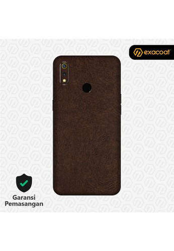 Exacoat Realme 3 / 3 Pro 3M Skins Leather Series - Leather Brown 03E80ES448FC13GS_1