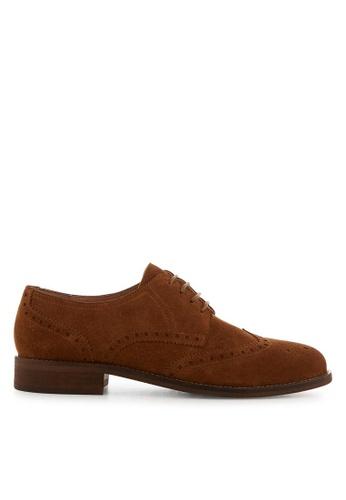 Minelli brown F61 130/VEL Suede Oxford Shoes - Lynson MI352SH0FJEXSG_1