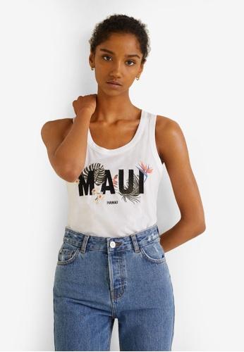 MANGO white Maui T-Shirt 4CDFCAA3DA83F4GS_1