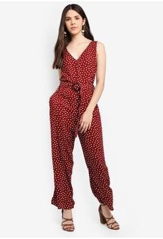1fc9eb687a4 Cotton On red Woven Bobbie Strappy Wide Leg Jumpsuit 88074AAEA9A2D4GS 1