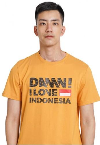 Damn I Love Indonesia yellow Tee Sign Mustard HD Black Male 13E37AAFAF5643GS_1
