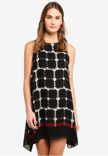 Max Studio multi Woven Sleeveless Trapeze Dress EE5C8AA676570BGS_1