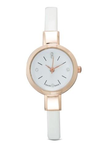 水鑽細仿皮圓esprit暢貨中心錶, 韓系時尚, 梳妝